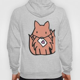 The Orange Fox With a Valentine Hoody