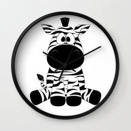 Sitting Zebra Wall Clock