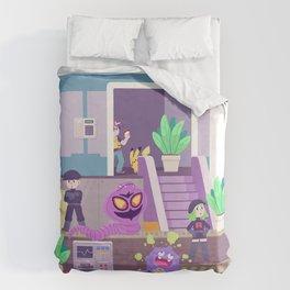 Tiny Worlds - Rocket HQ Duvet Cover