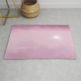 Hope Above the Clouds 4 Pink - Abstract Art Series Rug