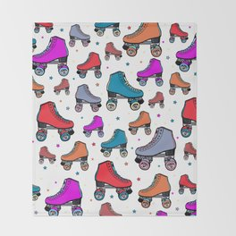Roller derby colorful Throw Blanket