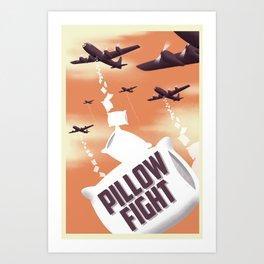 Pillow Fight Art Print