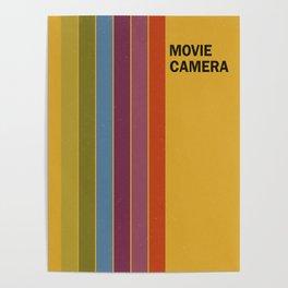 Retro Movie Camera Color Palette Poster