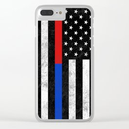 Fire Police Flag Clear iPhone Case