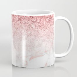 Rose-gold faux glitter and marble ombre Coffee Mug