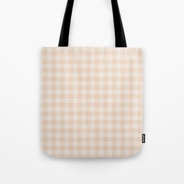 Gingham Pattern - Warm Neutral Tote Bag