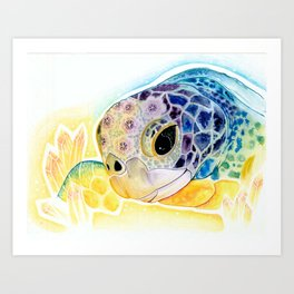 Crystal Turtle Art Print