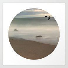 Seaside Escape Ocean Seaside Beach Neutral Postcards Fine Art Prints Gifts Art Print