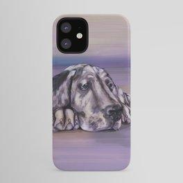 Harlequin Great Dane Puppy iPhone Case