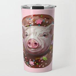 Pig Chocolate Donut Travel Mug