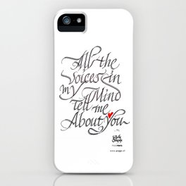 The voices in my mind iPhone Case