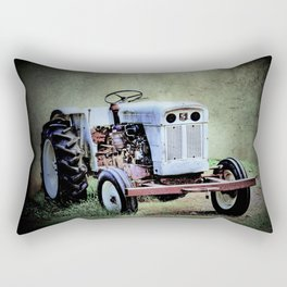 White Tractor  Rectangular Pillow
