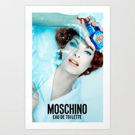Linda Evangelista Moschino Fresh Art Print