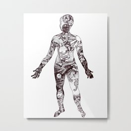 Cabinet of Curiosity Figure Collective Collection Metal Print