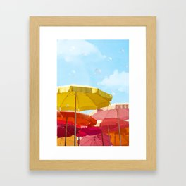Sunny day in Cinque Terre Framed Art Print