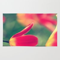 tulips Area & Throw Rugs featuring tulips by Falko Follert Art-FF77