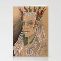 thranduil Stationery Cards featuring Thranduil by Sammy Lynn
