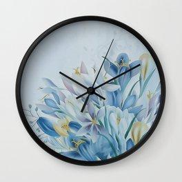 Lovely Spring Crocus Wall Clock