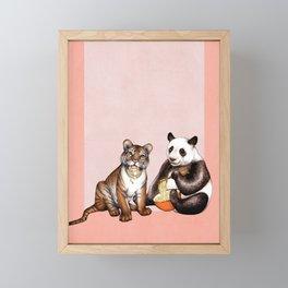 Friends & Noodles  Framed Mini Art Print
