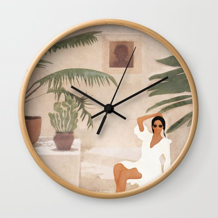Graceful Resting II Wall Clock