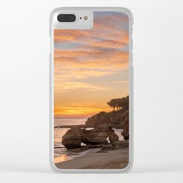 sunset afterglow, Portugal Clear iPhone Case