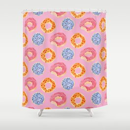 sweet things: doughnuts (pink) Shower Curtain