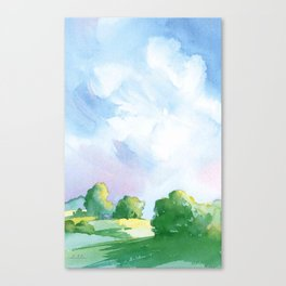 Landscape watercolor Canvas Print
