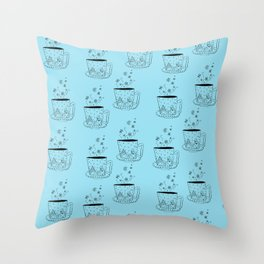 A cup of snow flakes Throw Pillow