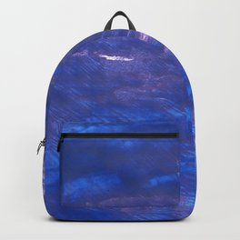 Chinese blue abstract watercolor Backpack