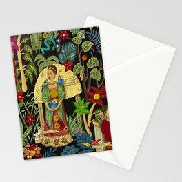 Frida's Garden, Casa Azul Lush Greenery Frida Kahlo Landscape Painting Stationery Cards
