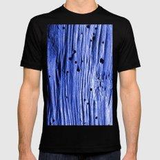 blue wood Black MEDIUM Mens Fitted Tee