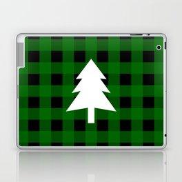 Christmas Tree - green buffalo check Laptop & iPad Skin