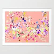 Soft bunnies pink Art Print