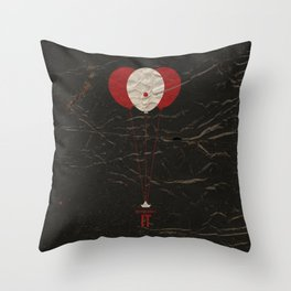 Pennywise the Clown - Stephen King's IT Inspired vintage movie poster Throw Pillow