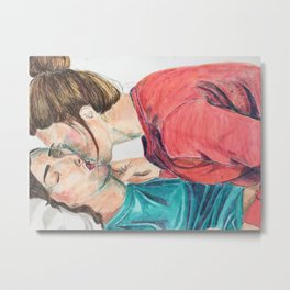 Slow Kiss Metal Print