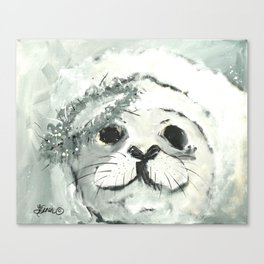 White Seal Canvas Print