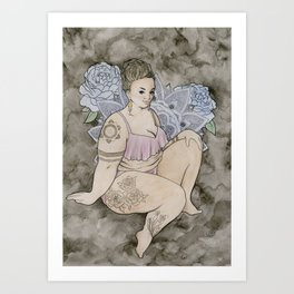 fat babe Art Print