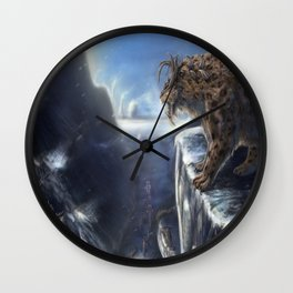 Danger Through the Mountain Pass Wall Clock