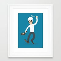 chef Framed Art Prints featuring Chef by bluespore