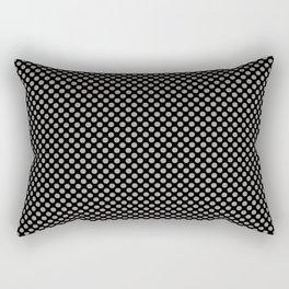 Black and Paloma Polka Dots Rectangular Pillow