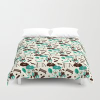 fault in our stars Duvet Covers featuring The Fault In Our Stars Pattern by Risa Rodil