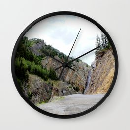 Drive Around the Curve onto a Shelf Above the Spectacular, but Frightening, Uncompahgre Gorge Wall Clock