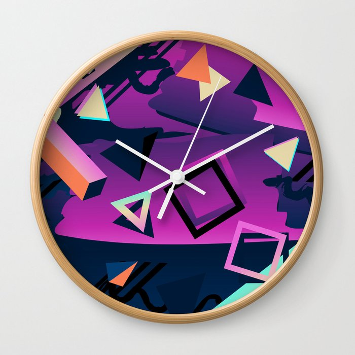 Memphis Style Wall Clock by orcevasilev