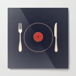 Vinyl Food Metal Print