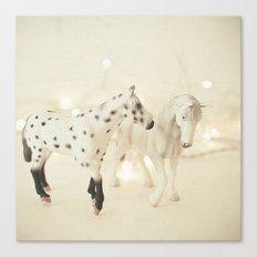 White Horses Canvas Print