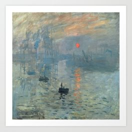 Claude Monet – Impression soleil levant – impression sunrise Art Print