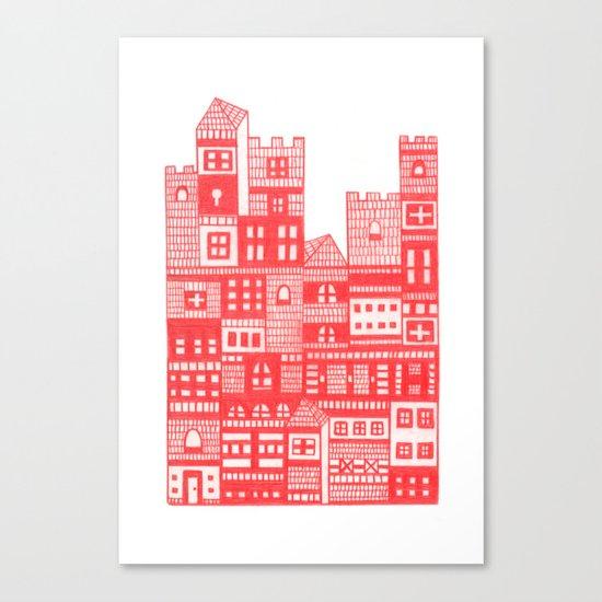 Tangerine Castle Canvas Print