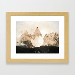 Longitude/Latitude Framed Art Print