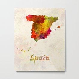Spain in watercolor Metal Print