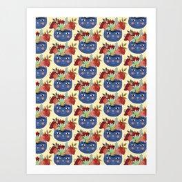 Frida Cat Love Art Print